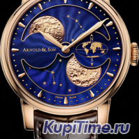 ARNOLD & SON OYAL COLLECTION HM DOUBLE HEMISPHERE PERPETUAL MOON