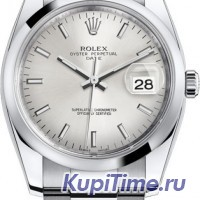 ROLEX OYSTER PERPETUAL DATE silver index