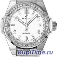 HUBLOT ONE CLICK STEEL WHITE DIAMONDS