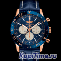BREITLING CHRONOLINER B04 RED GOLD  BLUE """"