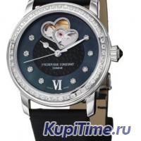 FREDERIQUE CONSTANT HEARTBEAT AUTOMATIC DIAMOND BlACK DIAL
