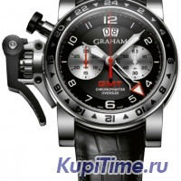 GRAHAM Chronofighter Oversize GMT Black Dial Black Leather