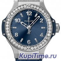 HUBLOT BIG BANG STEEL BLUE DIAMONDS 38 mm