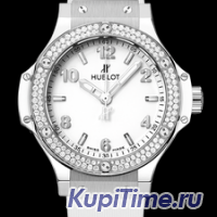 HUBLOT BIG BANG STEEL WHITE DIAMONDS 38ММ 361.SE.2010.RW.1104