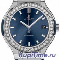 HUBLOT CLASSIC FUSION AUTOMATIC BLUE TITANIUM DIAMONDS 38MM 565.NX.7170.LR.1204