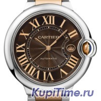 Cartier Ballon Bleu Large Steel and Pink Gold