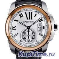 Cartier Calibre De Cartier Steel Rose Gold